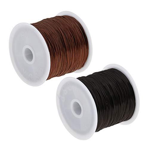 2 Piezas Peluca Tejido Trenzas de Pelo Hilo Pulsera Collar Cordón de Costura Negro +