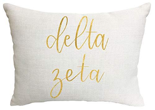 Delta Zeta Sorority Throw Pillow