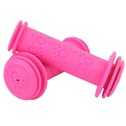 T-Day Empuñaduras de Bicicleta para niños, empuñaduras de Manillar, empuñaduras Antideslizantes para Manillar de Bicicleta para niños(Rosa roja)