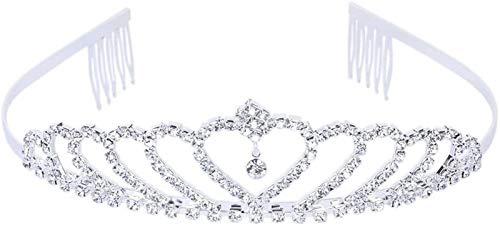 KEEBON Body Party Bridal Dama de Honor Cristal Corazón Rhinestone Crown Diadema Tiara