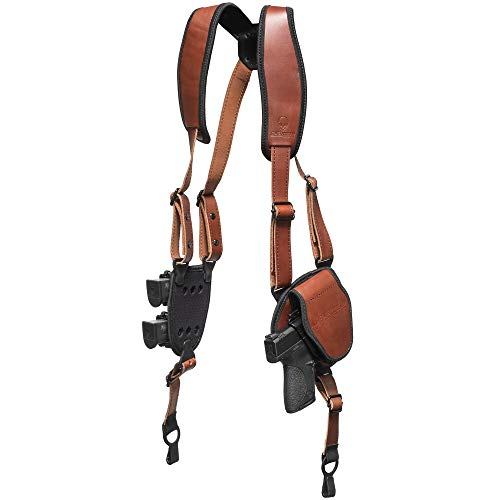 Alien Gear holsters ShapeShift Shoulder Holster (Brown Leather) Taurus PT111 G2 (Left Handed)(9mm/.40 Cal Double Stack)