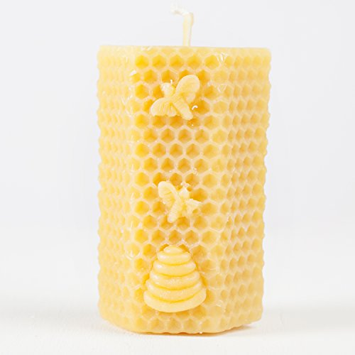 Local Honey Man Pure Beeswax Candle - Hexagon - direct from the beekeeper