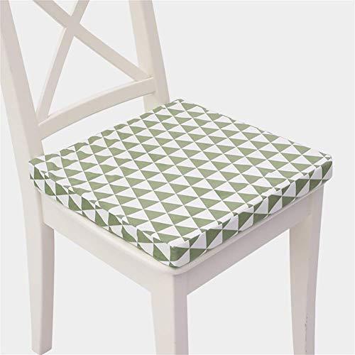 erddcbb Cojines Cuadrados Gruesos para sillas, Cojines para Asientos de Oficina Cojines para sillas de Comedor, fáciles de Limpiar, para jardín, balcón (la Silla no está incluida), Verde 40x40cm