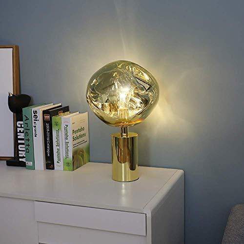 SDHouse Lámpara Escritorio Posmoderno Dise?o Minimalista Personalidad mesita de Noche Lava Creativa Sala de Estar Dormitorio lámpara de Mesa 28 * 43 cm (Cobre Rojo/Cromo/Dorado) (Color:Cobre)