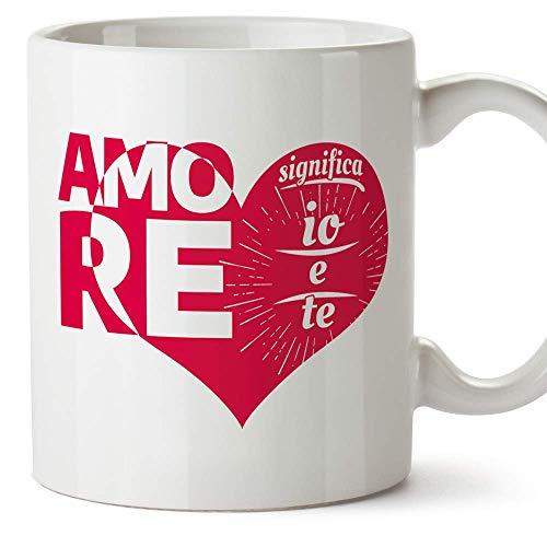 MUGFFINS Tazza San Valentino (Ti amo) - Amore significa io e te - Idee Regali Anniversario Originali...