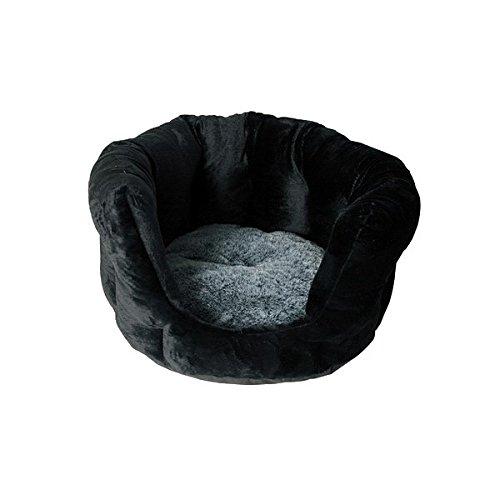 Chat Boutic - Dôme Angora T 45 cm - Black & Grey - Extra Confort