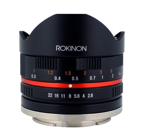 Rokinon 8mm F2.8 UMC Fisheye II (Black) Fixed Lens for Canon EF-M Mount Compact System Cameras (RK8MBK28-M)