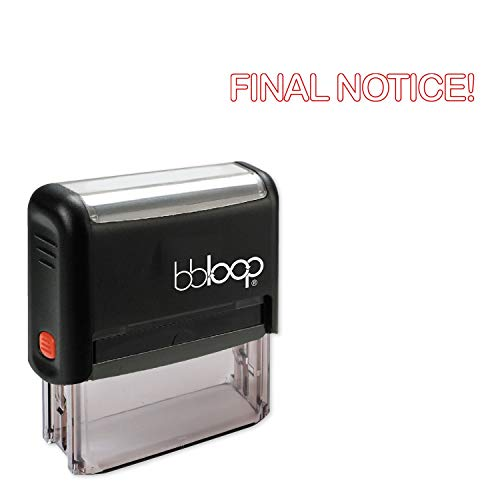 Final Notice! w/Round Outline Style Font and Design Self-Inking Rubber Stamp