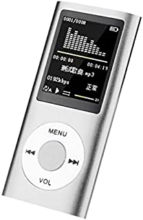 DishyKooker for f/or IP/od Style 32GB Portable 1.8in LCD MP3 MP4 Music Video Media Player FM Radio Portable Colorful MP3 MP4 Player Music Video Silver