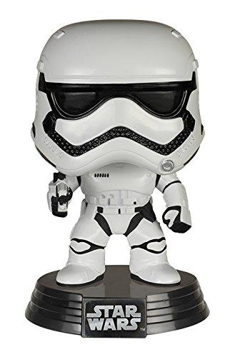 Star Wars- Trooper Figura de Vinilo First Order Stormtrooper, Multicolor, Talla única (Funko 6225)