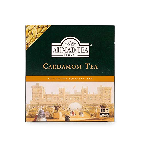 Ahmad Tea Cardamom Tea (pack Of 1, Total 100 Tea Bags), Té_verde, 200 Gramo