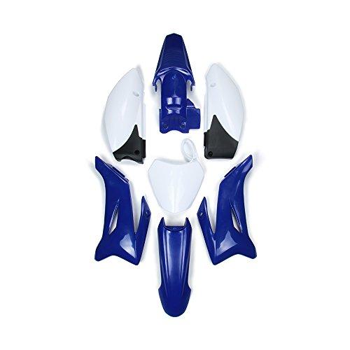 Un Kit de Guardabarros de plástico ABS Xin para Motocicleta, Kit de carenado de Trabajo para Yamaha TTR110 Dirt Pit Bike (Azul y Blanco)
