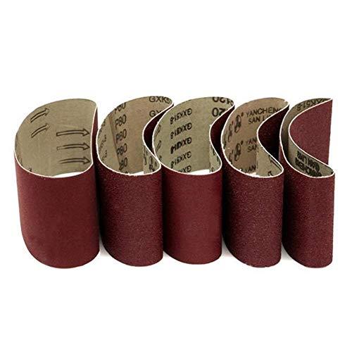 WY-YAN 5pcs 457x75mm lijadoras de banda 60/80/100/120/240 arena abrasiva cintas de pulir de la herramienta de esmerilado y pulido