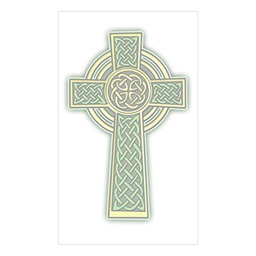 CafePress Celtic Cross 2 Light Rectangle Bumper Sticker Car Decal