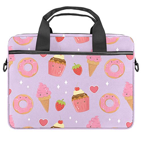 13-14.5 Inch Laptop Sleeve Case Cute Cakes Dessert Pattern Protective Cover Bag Portable Computer Notebook Carrying Case Briefcase Message Bag