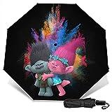 Tro-lls World To-ur barb fumetti wow pod trolls piccoli ballerini uk pop impermeabile ombrello da viaggio rinforzato baldacchino veloce asciugatura doppia merce ventilata Stampa esterna1 Taglia unica