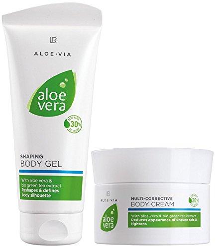 LR ALOE VIA Aloe Vera Toning Set Körperstraffung (200 ml Körpergel und 200 ml -creme)