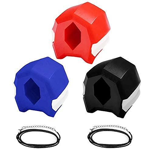 Jawline Exerciser Define Jawline - Jaw Exerciser - Slim and Tone Your Face - Reduces Cravings and Stress - Restore Young Age Face (Blue40-Red50-Black60)
