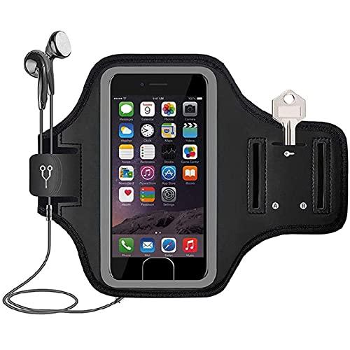 lefeindgdi Brazalete deportivo a prueba de sudor para correr, gimnasio, brazalete de teléfono para iPhone 12 Mini/11 Pro/XS/X/8/7/6 Plus hasta 5.8 pulgadas