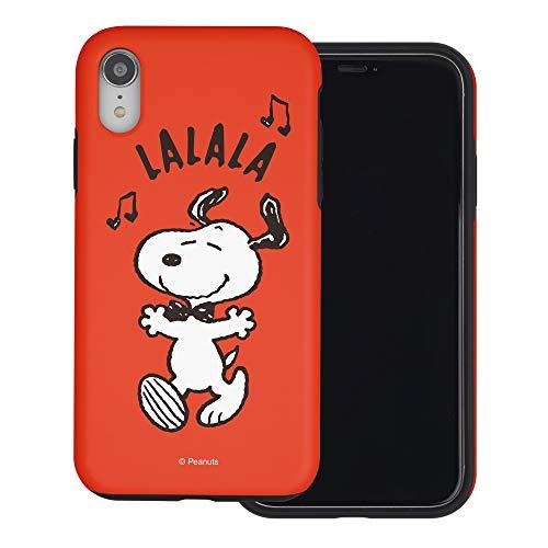 iPhone XS Max ケース と互換性があります Peanuts Snoopy ピーナッツ スヌーピー ダブル バンパー ケース デュアルレイヤー 【 アイフォンXS Max 】 (スヌーピー Lalala) [並行輸入品]