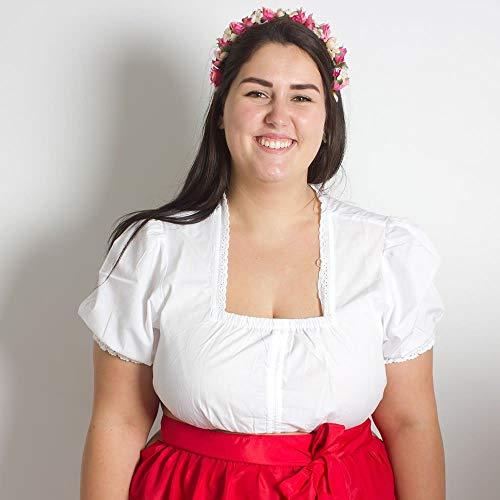 MADDOX Bozen Damen Trachtenbluse Übergrößen, Weiß, 52
