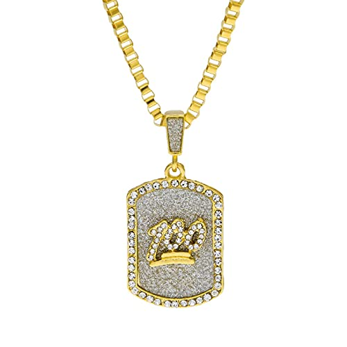 100-Punkt-Strass-Anhänger mit goldenen glänzenden Kristallen, schicker Halsbandschmuck, Feiertagsgeschenk.