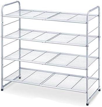 Simple Trending 4 Tier Stackable Shoe Rack Expandable Adjustable Shoe Organizer Storage Shelf product image