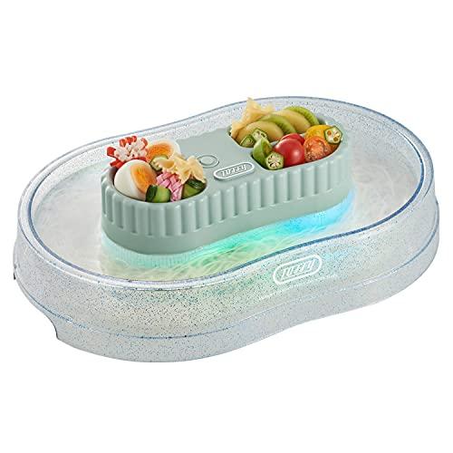 【Toffy/トフィー】きらきら流しそうめん器K-NS2(アッシュホワイト)LEDライト付乾電池きらきらかわいいアウトドアパーティーキャンプBBQ氷ケース内蔵レトロK-NS2-PA
