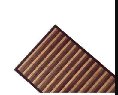 Bricok Tappeto Bamboo (50X180, Marrone)