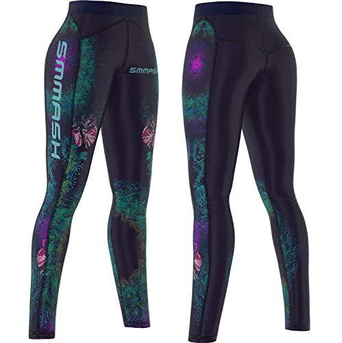 SMMASH X-WEAR Crossfit Damen Leggings, Lang Fitnesshose Printed, Bunt Sportleggins, Thermo, Blickdichte Laufhose, Sporthose für Joga, Gym, Workout, Fitness, Atmungsaktiven Hosen Frauen