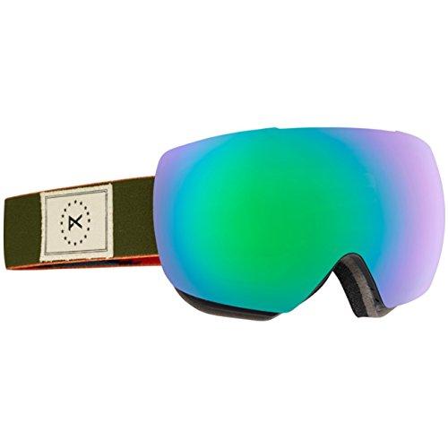 Anon Herren Snowboardbrille MIG MFI, Wellington/Grn Solx, One Size