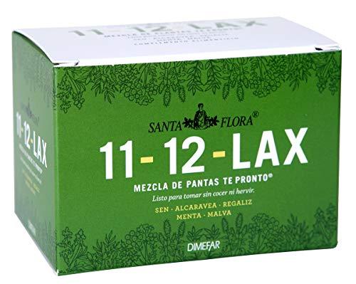 DIMEFAR - Santa Flora 11-12 Lax Bote - Regulador Intestinal - Sen + Alcaravea + Regaliz + Menta + Malva, 25 Sobres | Regulador Intestinal