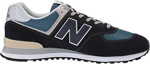 New Balance Ml574v2 Herren-Sneaker, Violett - Dark Navy Marred Blue - Größe: 48 W US