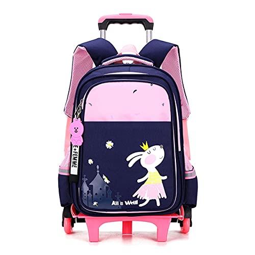 YUTCRE Zaino Trolley Scuola Elementare Bambina Impermeabile Zaino Trolley Ragazza Cartelle Per La Scuola Zaino Da Viaggio Zainetti Per Bambini Borsa Da Viaggio