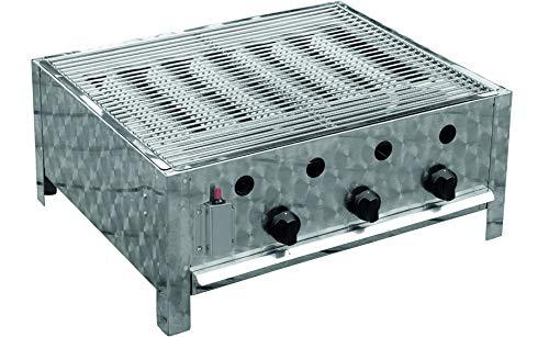 Traedgard Gastro-Bräter mit Edelstahl Grillrost, 3-Brenner, 10KW | 64x52cm Grillfläche