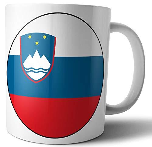 Slovenië - Sloveense vlag - Thee - Koffie - Mok - Beker - Verjaardag - Kerstmis - Cadeau - Geheime Kerstman - Stocking Filler
