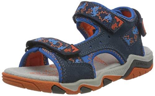Lurchi Brian, Sandalia, Azul Jeans Orange 22, 25 EU