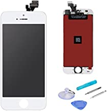 LCD Touch Screen Digitizer Display Replacement Assembly with Repair Tool for iPhone 5-White