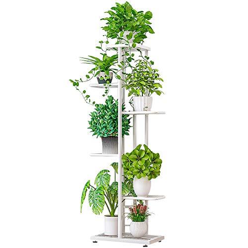 ZZBIQS Portavasi in metallo a 6 livelli per piante, con ripiani multipli per vasi da fiori, per gli...
