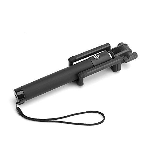 hublines  Bluetooth- Handy- Selfie- Stick/Stange - Teleskopstange mit internem Bluetoothauslöser - Universalhalterung - Schwarz - Armverlängerung - für IOS und Android Smartphones