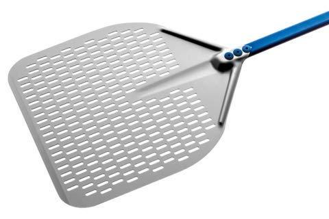 Pizzaschaufel aus eloxiertem Aluminium, rechteckig, 50 x 50 cm, Griff 150 cm, A50RF/150