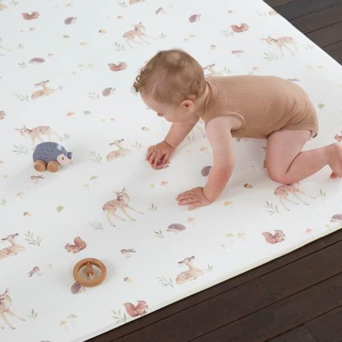 Alfombra de Juego para Bebés - Alfombra para el tiempo boca abajo, Para Actividades como Jugar Regalos para la fiesta del bebé recién nacido, De espuma No tóxica Reversible, Impermeable 1,98mx1,41m