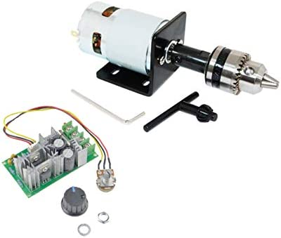CHANCS Mini Electric Motor 775 DC 12V 24V With Drill Chuck and PWM DC Motor Speed Controller product image
