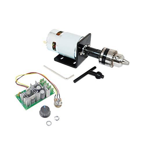 CHANCS 775 Mini motor eléctrico DC 12 V/24 V 10000 RPM/20000 RPM con regulador de control PWM de 20 A regulador de velocidad