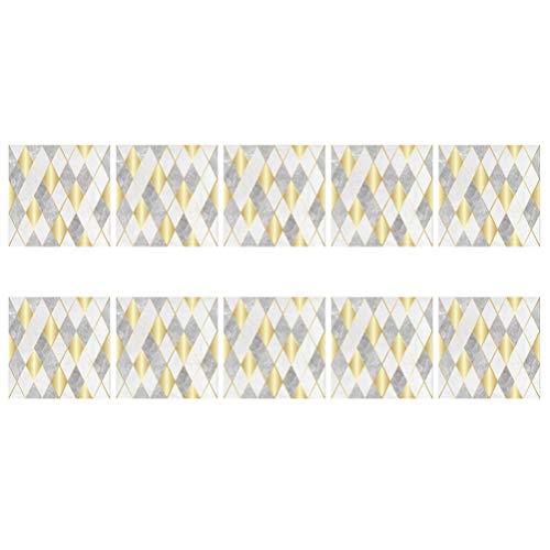 Veemoon 10 Piezas de Adhesivos para Azulejos Pelan Y Pegan Moderno PVC Autoadhesivo Resistente Al Agua DIY Decoración de Papel Pintado para El Suelo del Hotel Baño Cocina Casera