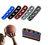 VPlus 2 Pack Silicone Shot Lock Basketball Ball Shooting Trainer Training Accessories Three-Point Size for Kids Adult Man Teens Color in Random