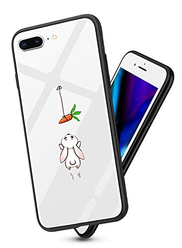 Suhctup Vidrio Templado Case Compatible con iPhone 5/5S/SE Funda Transparente Lindo Dibujos...