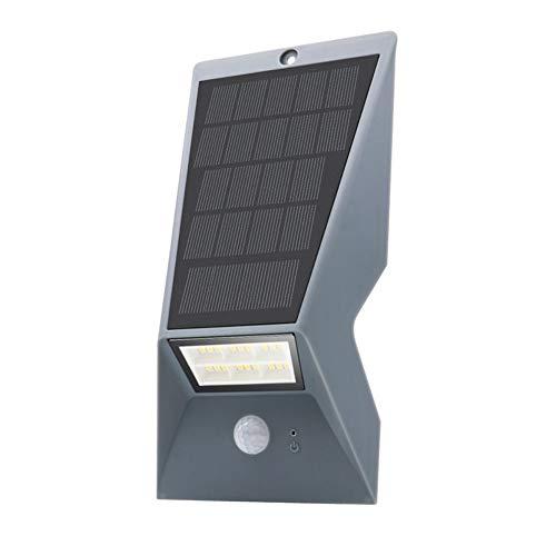 Outdoor Solar Security Lights, High Performance Ip65 Waterproof Pir Motion Sensor Professional Wireless, for Garden Fence Patio Garage Street Door Light,Gray