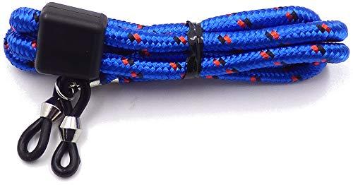 Massiva GmbH La Optica B.L.M. Herren Brillenband Damen Kinder - Brillenhalter Bunt 65cm für Sonnenbrillen, Lesebrillen, Sport, Farben, Blau, Rot