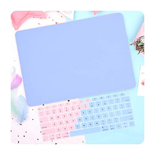 Gradient Plastic Hard Shell Laptop Case for Air Pro Retina 13 16 inch Touch ID 2020 A2251 A2338 A2179 A1932 A2337 Cover-Solid blue logo-2020 Pro 13 M1 A2338